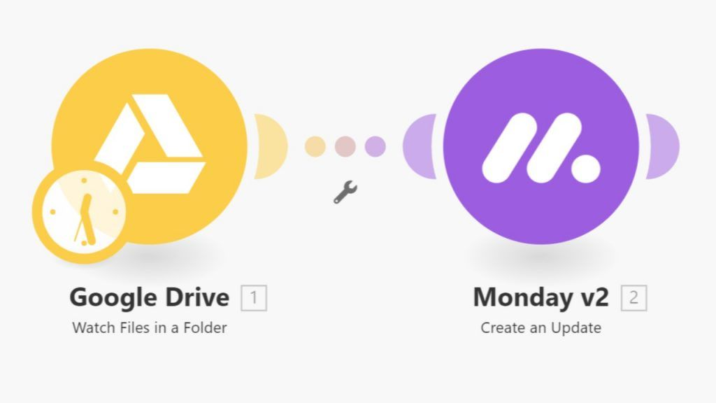 Google Drive to Monday.com - Create update when new file is added to folder